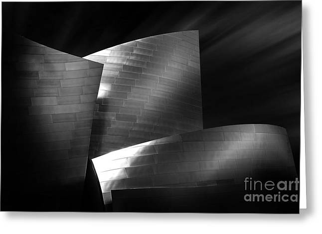 Hall Photographs Greeting Cards - Walt Disney Concert Hall 3 Greeting Card by Az Jackson