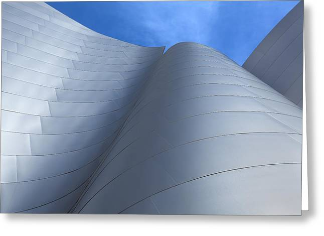Sculptural Decoration Greeting Cards - Walt Disney Concert Hall Architecture Los Angeles California Abstract Greeting Card by Ram Vasudev