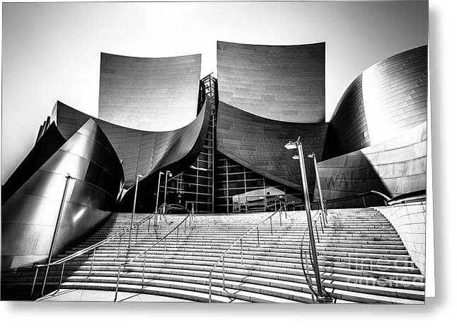 Walt Disney Concert Hall in Black and White Greeting Card by Paul Velgos
