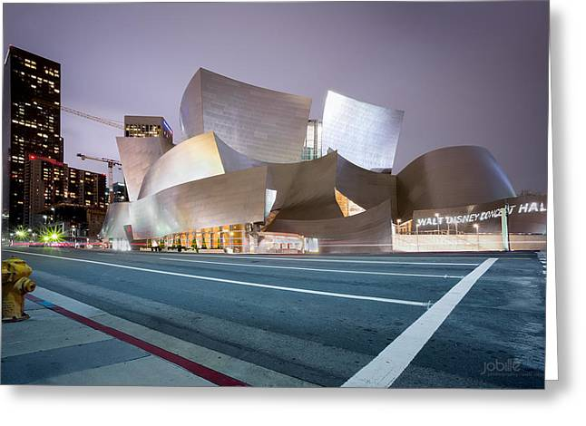 California Tourist Spots Greeting Cards - Walt Disney Concert Hall Greeting Card by Jerome Obille