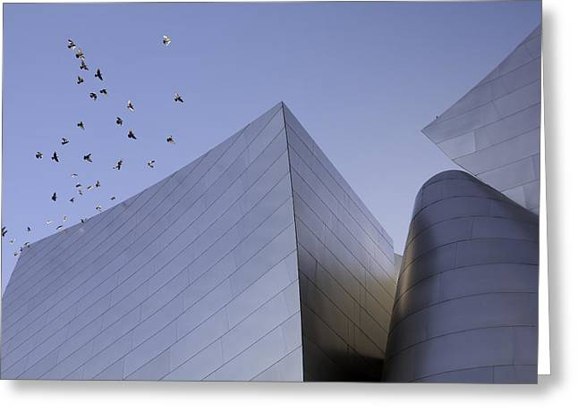 Sculptural Decoration Greeting Cards - Walt Disney Concert Hall Los Angeles California Architecture Abstract Greeting Card by Ram Vasudev