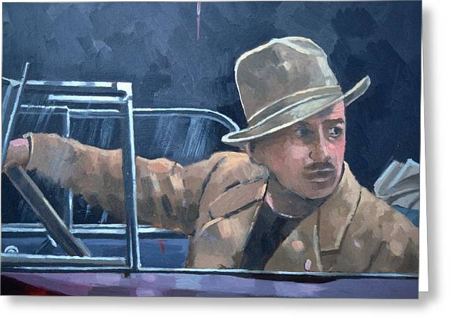 Driving Greeting Cards - Walt Disney Oil On Canvas Greeting Card by Peter Miller