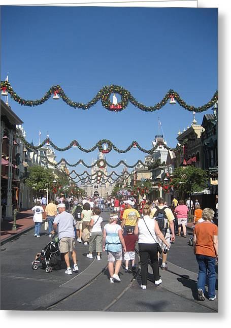 Orlando Greeting Cards - Walt Disney World Resort - Magic Kingdom - 1212128 Greeting Card by DC Photographer