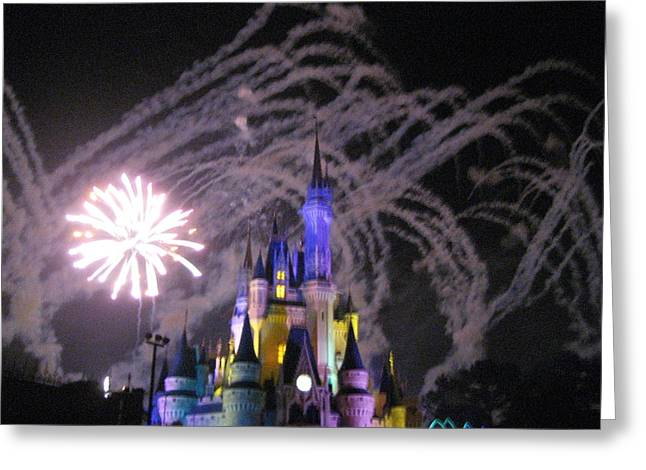 World Greeting Cards - Walt Disney World Resort - Magic Kingdom - 121266 Greeting Card by DC Photographer
