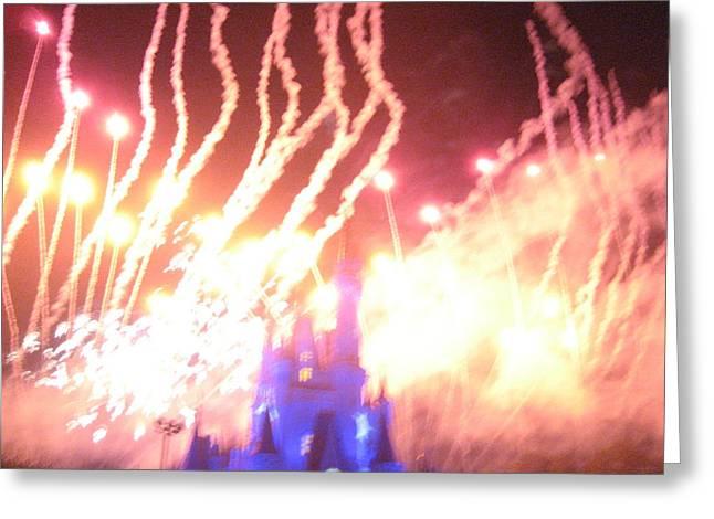 Resort Greeting Cards - Walt Disney World Resort - Magic Kingdom - 121269 Greeting Card by DC Photographer