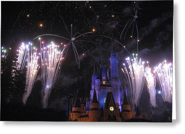 Resort Greeting Cards - Walt Disney World Resort - Magic Kingdom - 121283 Greeting Card by DC Photographer