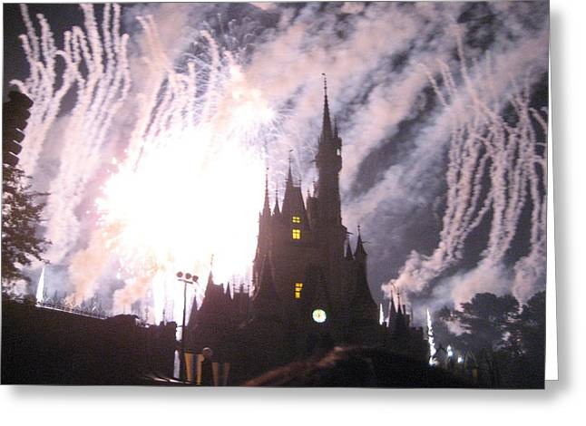 Resort Greeting Cards - Walt Disney World Resort - Magic Kingdom - 121290 Greeting Card by DC Photographer