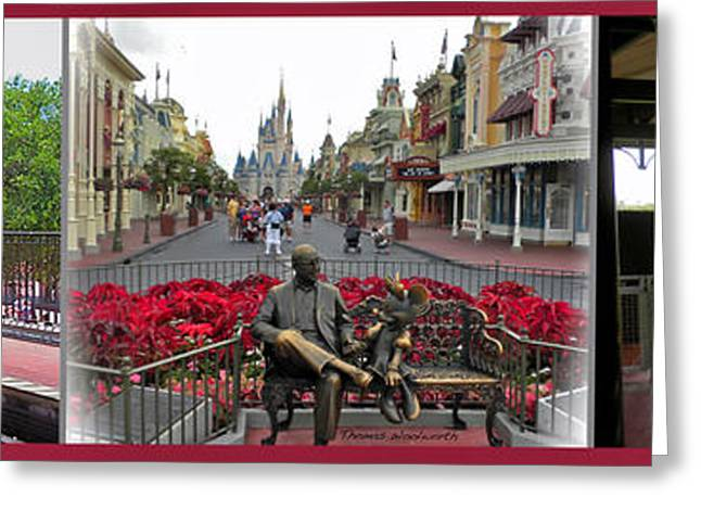 Walt Disney World Photographs Greeting Cards - Walt Disney World Transportation 3 Panel Composite 02 Greeting Card by Thomas Woolworth