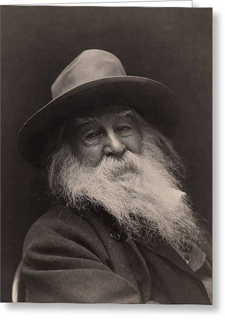 1880s Greeting Cards - Walt Whitman 1886 Greeting Card by Mountain Dreams
