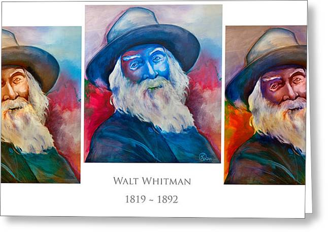 Leaves Of Grass Greeting Cards - Walt Whitman Poster Greeting Card by Robert Lacy