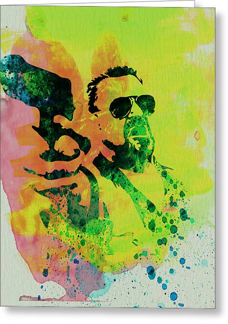 Film Watercolor Greeting Cards - Walter Greeting Card by Naxart Studio