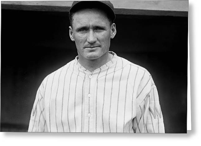 Old Pitcher Greeting Cards - Walter Johnson 1925 Greeting Card by Mountain Dreams