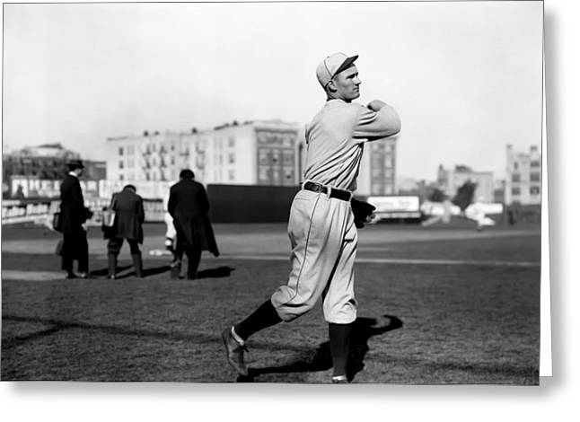 Hall Of Fame Greeting Cards - Walter Johnson Follow Through Greeting Card by Retro Images Archive