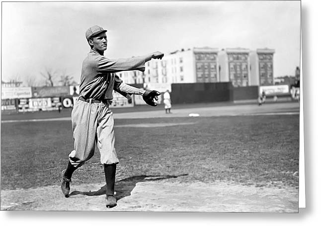 Hall Of Fame Greeting Cards - Walter Johnson Pitching Greeting Card by Retro Images Archive