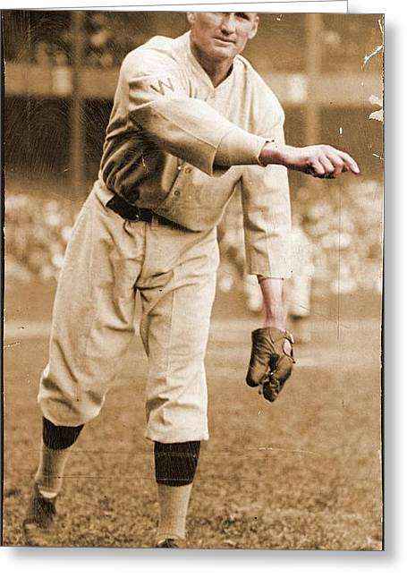 Walter Greeting Cards - Walter Johnson Poster Greeting Card by Gianfranco Weiss