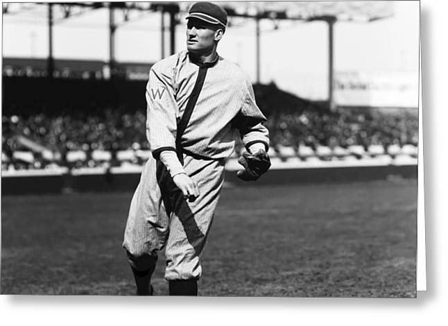Walter P. Johnson Follow Through Throw Greeting Card by Retro Images Archive