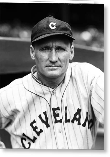 Cleveland Indians Greeting Cards - Walter P. Johnson Looks Ready To Play Greeting Card by Retro Images Archive