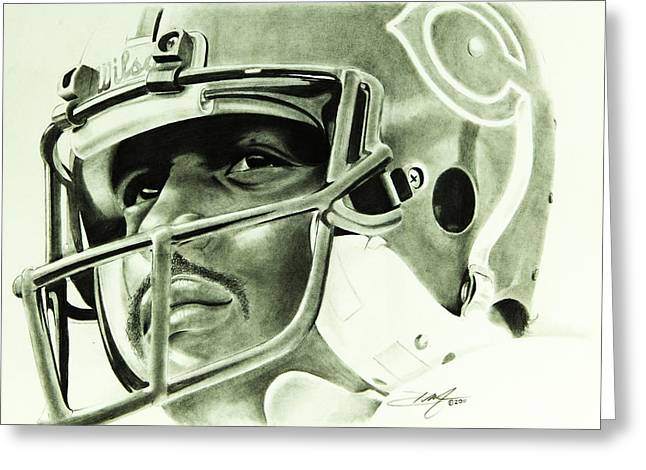 Best Sellers -  - Don Medina Greeting Cards - Walter Payton Greeting Card by Don Medina