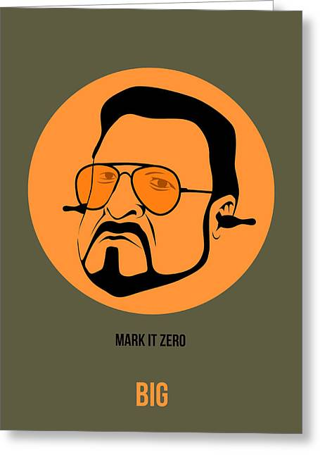 Shows Greeting Cards - Walter Sobchak Poster 1 Greeting Card by Naxart Studio