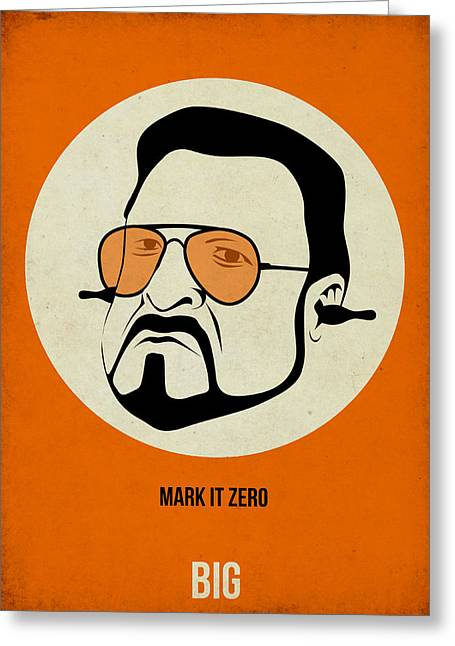 Walter Sobchak Poster Greeting Card by Naxart Studio