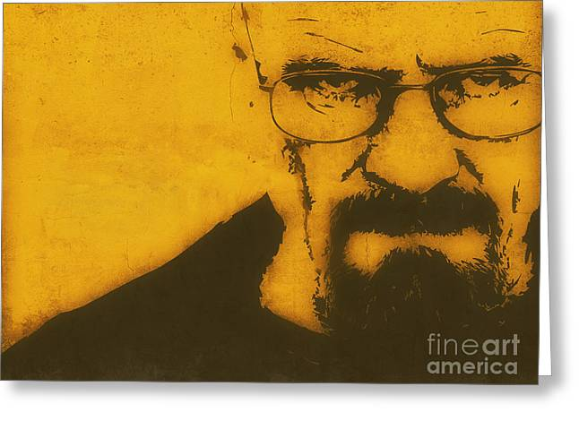 Amc Greeting Cards - Walter White Breaking Bad Greeting Card by Pixel Chimp