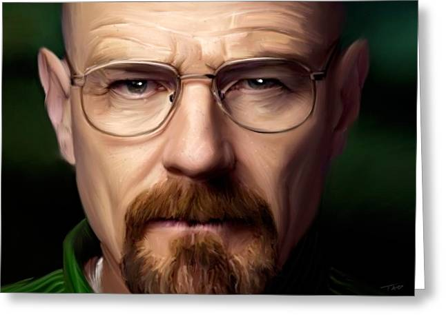 Amc Greeting Cards - Walter White - Color Greeting Card by Paul Tagliamonte