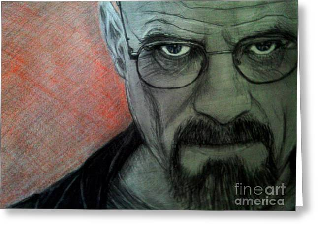 Bad Drawing Greeting Cards - Walter White from Breaking Bad Greeting Card by Paula Soesbe