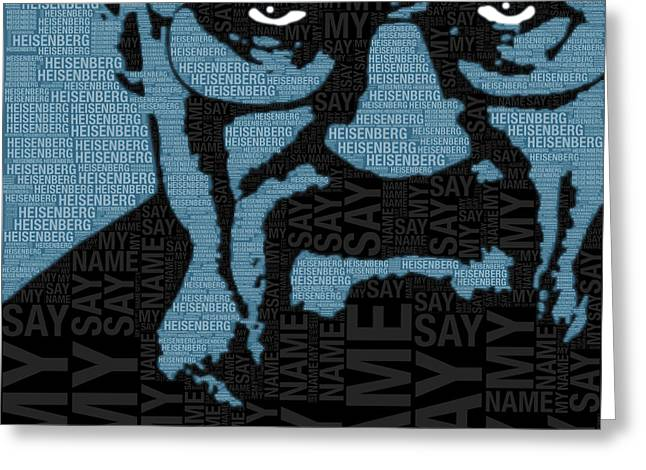 Heisenberg Art Prints Greeting Cards - Walter White Heisenberg Breaking Bad Greeting Card by Tony Rubino