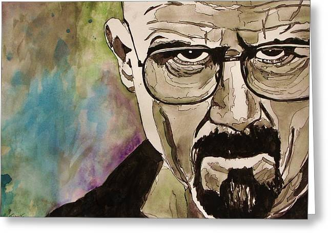 White Beard Mixed Media Greeting Cards - Walter White Greeting Card by Jeremy Moore