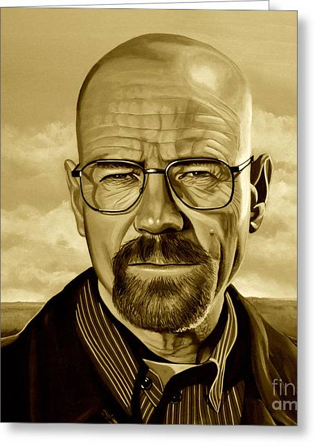 Vince Greeting Cards - Walter White Greeting Card by Meijering Manupix