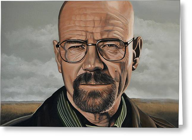 Golden Globe Greeting Cards - Walter White Greeting Card by Paul Meijering