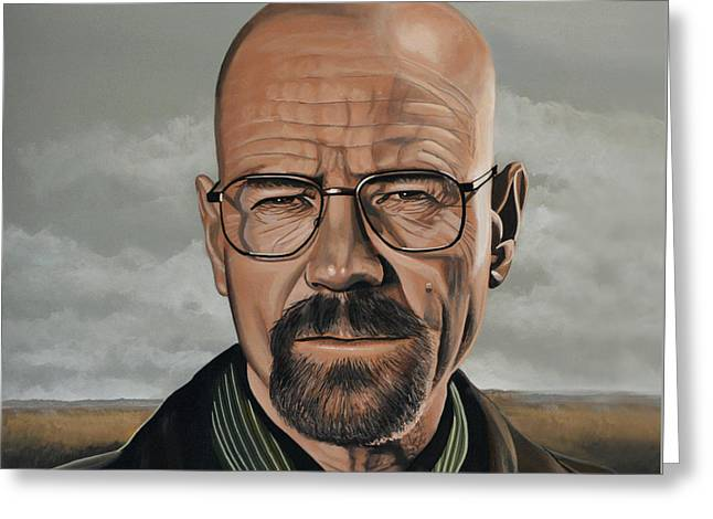 Vince Greeting Cards - Walter White Greeting Card by Paul Meijering