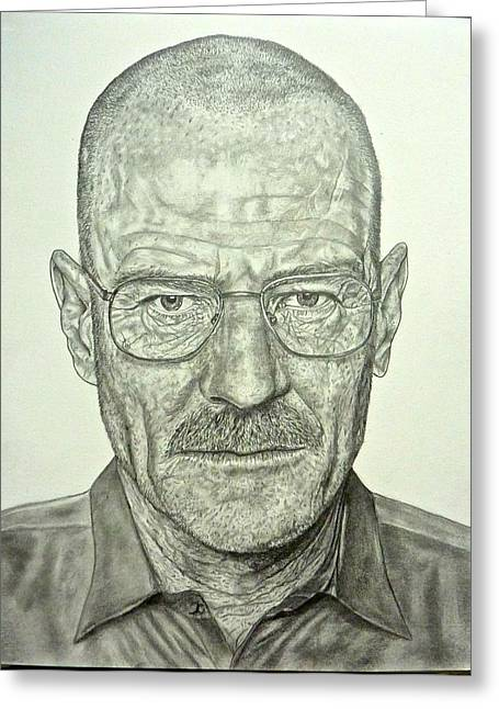 Hyperrealistic Greeting Cards - Walter White Greeting Card by Rebekah Williamson