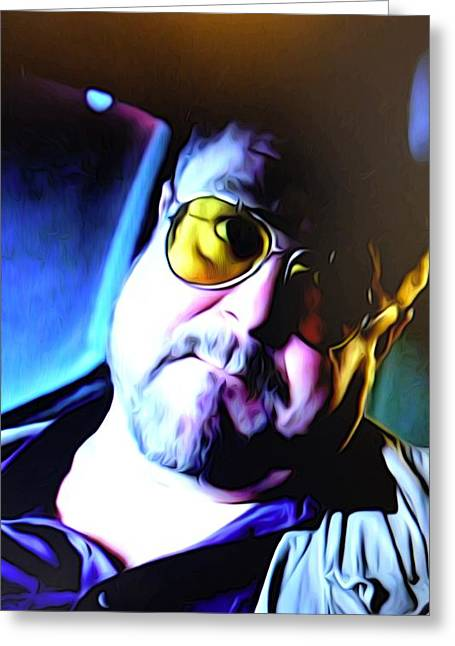 Big Lebowski Photographs Greeting Cards - Walter with doubts Greeting Card by Guido Prussia