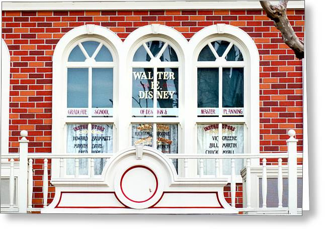Magic Kingdom Photographs Greeting Cards - Walts Window Greeting Card by Greg Fortier