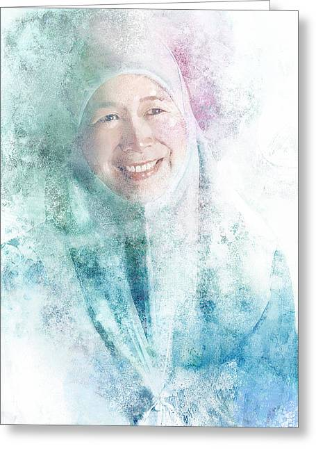 Opposition Digital Greeting Cards - Wan Azizah Greeting Card by Kean Foong Chong