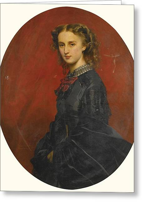 Franz Xaver Winterhalter Greeting Cards - Wanda Furstin Von Und Zu Putbus Greeting Card by Celestial Images