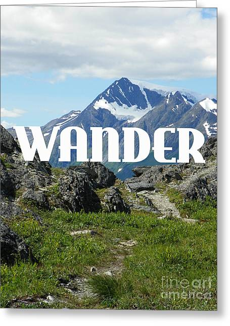 Hike Drawings Greeting Cards - Wander Greeting Card by Jennifer Kimberly