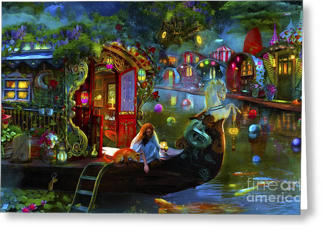 Phantasmagorical Greeting Cards - Wanderers Cove Greeting Card by Aimee Stewart