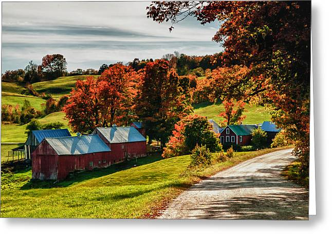 """autumn Foliage New England"" Greeting Cards - Wandering Down The Road Greeting Card by Jeff Folger"