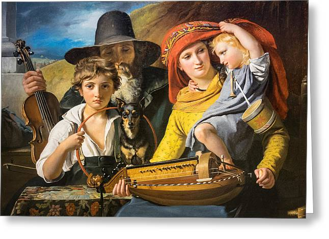 Francois Greeting Cards - Wandering Musicians 1828 Greeting Card by Francois-Joseph Navez