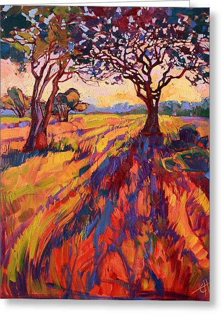 Paso Robles Greeting Cards - Wandering Rays Greeting Card by Erin Hanson