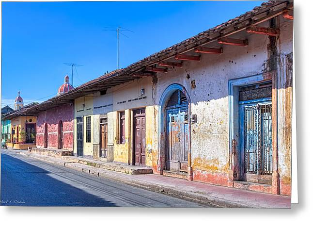 American Colonial Architecture Greeting Cards - Wandering The Colorful Streets of Granada Greeting Card by Mark Tisdale