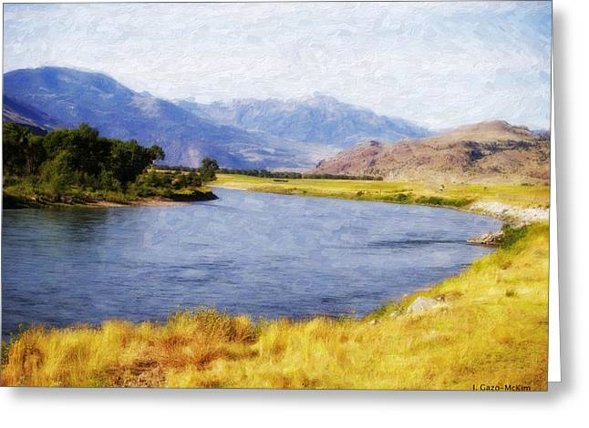 Bucolic Scenes Digital Art Greeting Cards - Wandering Water Greeting Card by Jo-Anne Gazo-McKim