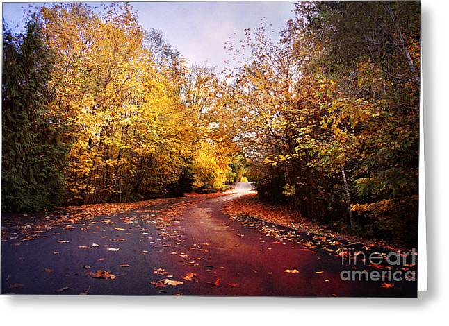 Road Travel Greeting Cards - Wanderlust Greeting Card by Sylvia Cook