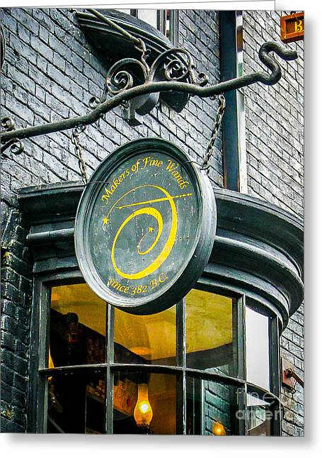 Store Fronts Greeting Cards - Wands Greeting Card by Perry Webster