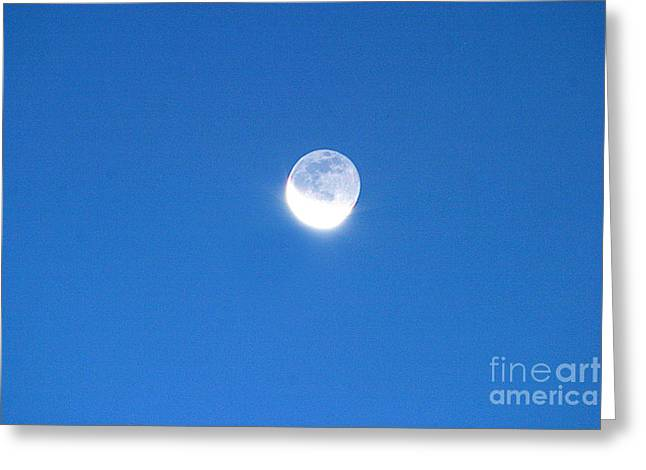 Waning Moon Greeting Cards - Waning Crescent Moon Greeting Card by John Chumack
