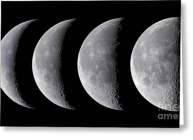 Waning Moon Greeting Cards - Waning Moon Series Greeting Card by Alan Dyer