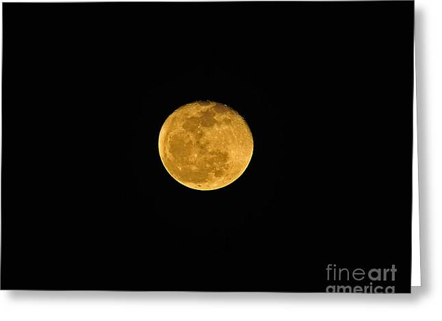 Man In The Moon Greeting Cards - Waning Passover Moon Greeting Card by Al Powell Photography USA
