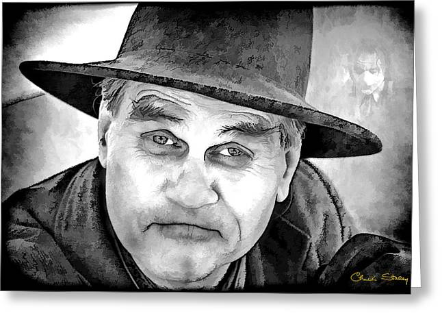 Fb Greeting Cards - Wanna Be Friends? B W Greeting Card by Chuck Staley